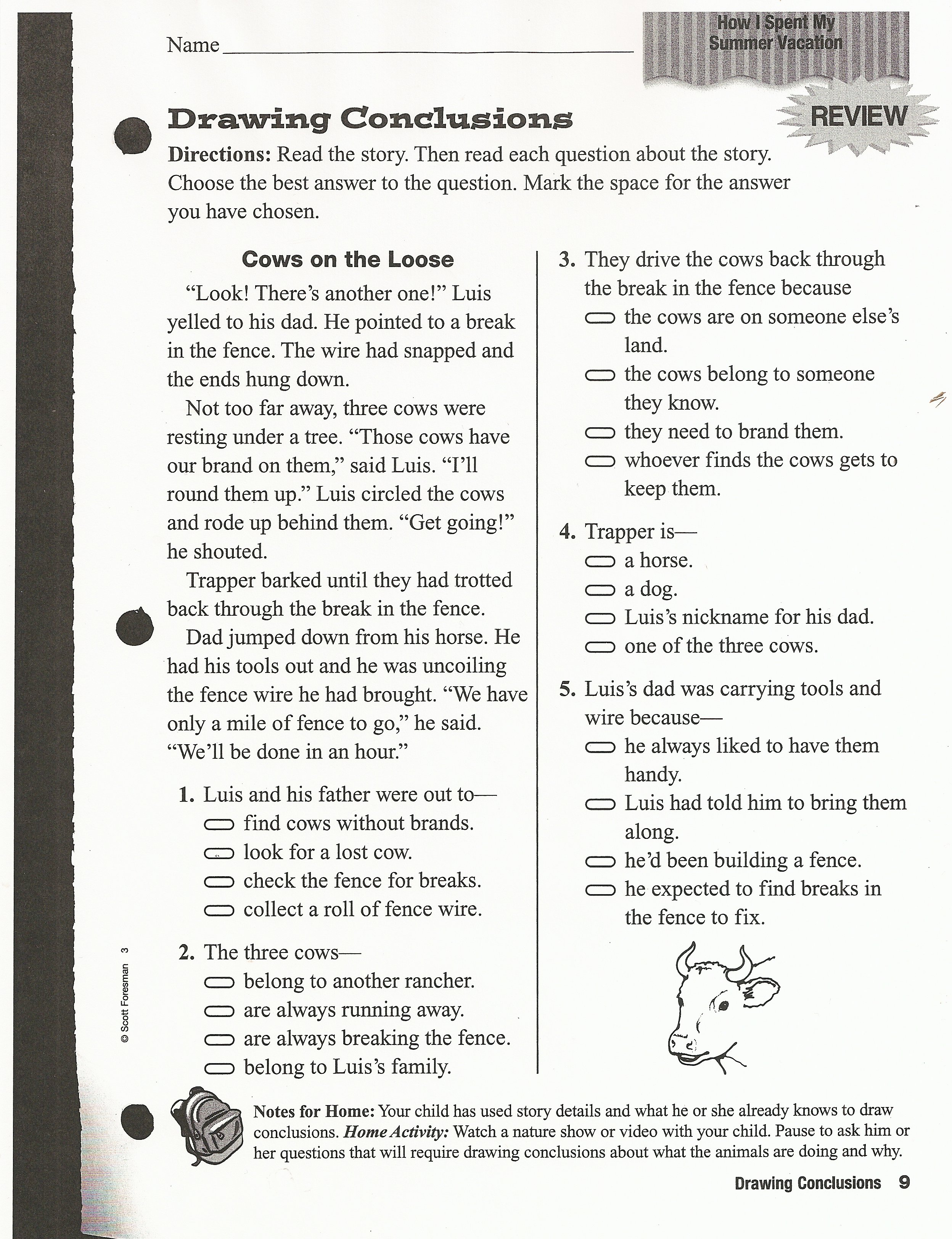 Reading Worksheet 3rd Grade with Mrs Davis – Reading Worksheets for 3rd Grade